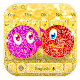 Purple red gold cute emoticon pack keyboard theme for PC-Windows 7,8,10 and Mac