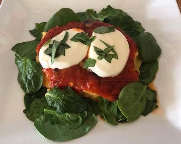 Italian Cheesy Polenta With Mozzarella And Spinach Recipe