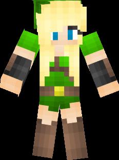 Link Girl Nova Skin - Skins para minecraft pe zelda