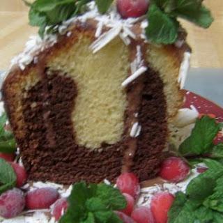 Vanilla Met Chocolate Cake