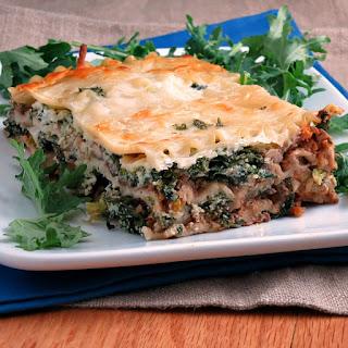 Mushroom Bolognese Kale Lasagna