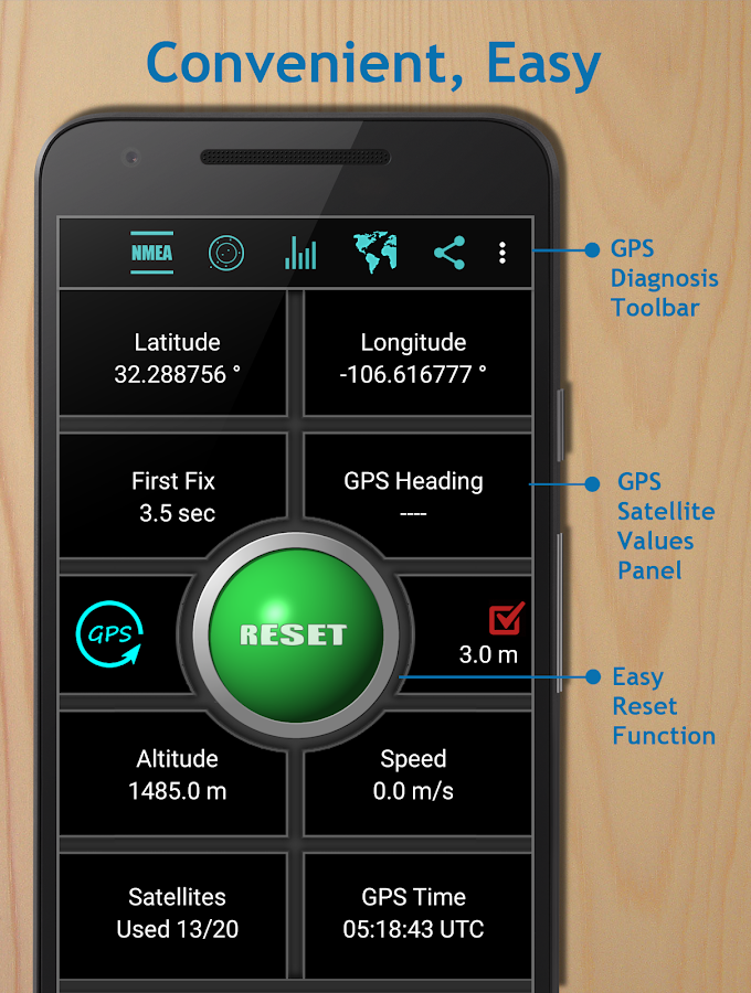GPS Reset COM - Tools & Repair- screenshot