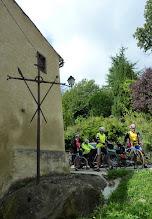 Photo: La croix en fer forgé des Lévis-Mirepoix