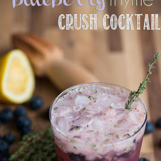 Blueberry Thyme Crush Cocktail.
