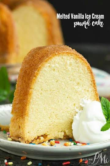 FROM SCRATCH MELTED VANILLA ICE CREAM POUND CAKE {no cake mix}