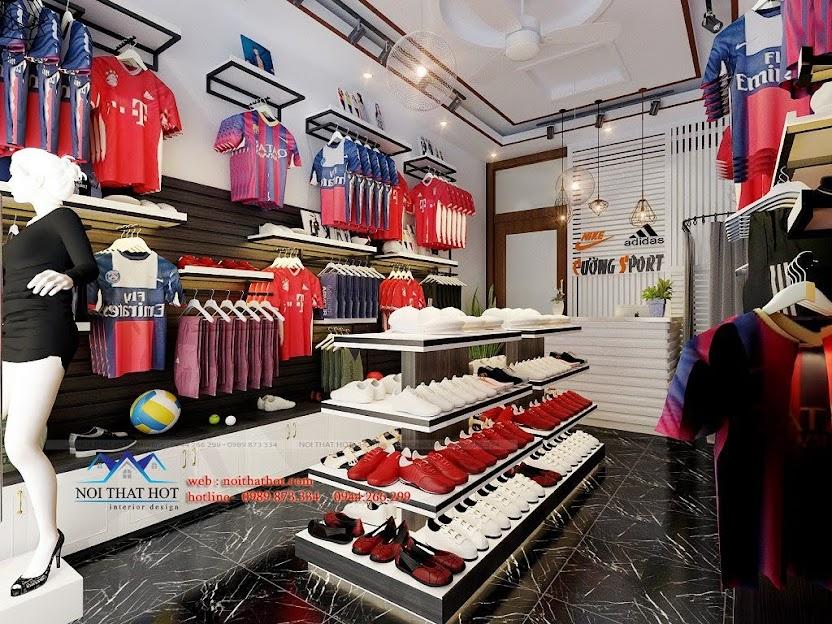 thiết kế cửa hàng thể thao đẹp