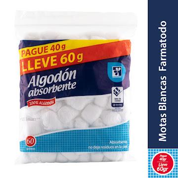 Oferta Algodón Farmatodo   Absorbente Pomos X60G. Pague 40G. Lleve 60G.