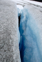 Photo: Blue crevasse