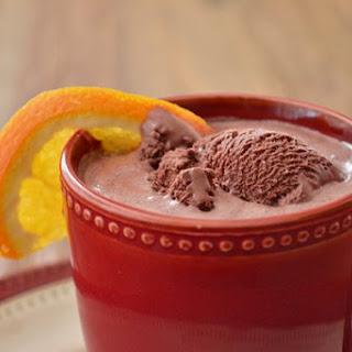 Boozy Orange Chocolate Ice Cream Cocktail.