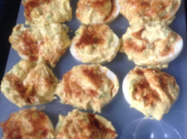 Favorite Topped Deviled Eggs Recipe