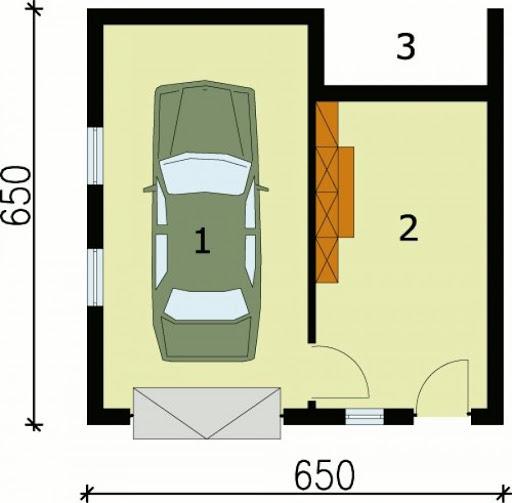 G74 - Rzut garażu