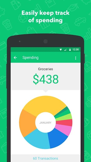 Screenshot 1 for Mint's Android app'
