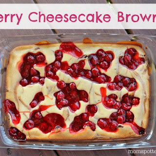 Cherry Cheesecake Brownies #Pyrex100