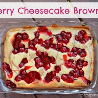 Cherry Cheesecake Brownies #Pyrex100.