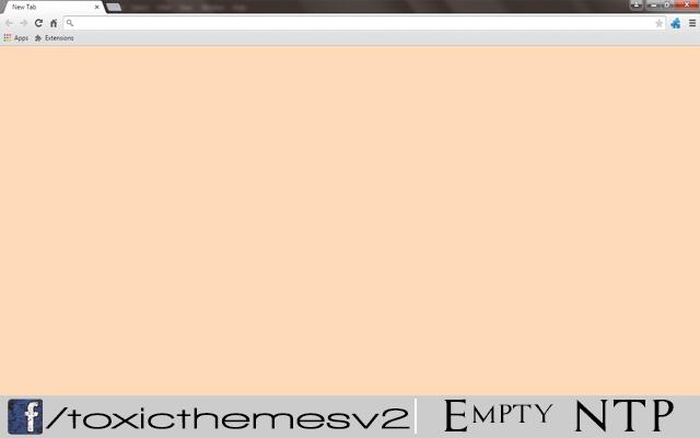 Empty New Tab Page - Peach