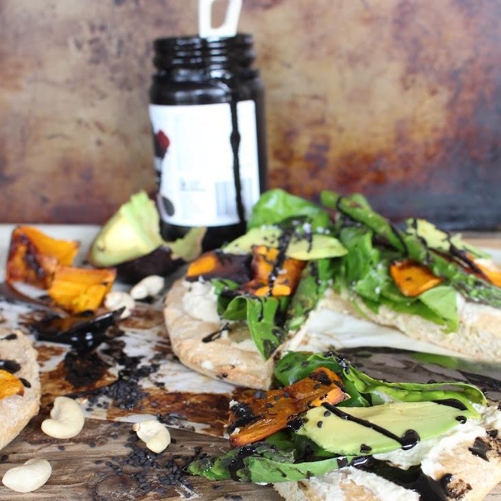 Lemon Cashew and Black Tahini Pizza Recipe