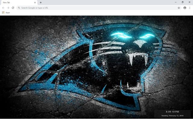 NFL Carolina Panthers New Tab Theme