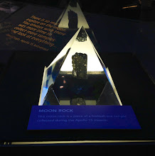 Photo: An authentic piece of Moon rock on display in the NASA Glenn Visitor Center
