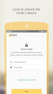 Norton Family parental control - náhled