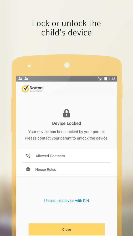 Norton Family parental control- screenshot