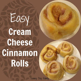 Easiest Ever Cream Cheese Cinnamon Rolls.