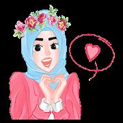 Cute Hijab Islamic Sticker- WAStickerApps