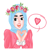 Cute Hijab Islamic Sticker- WAStickerApps