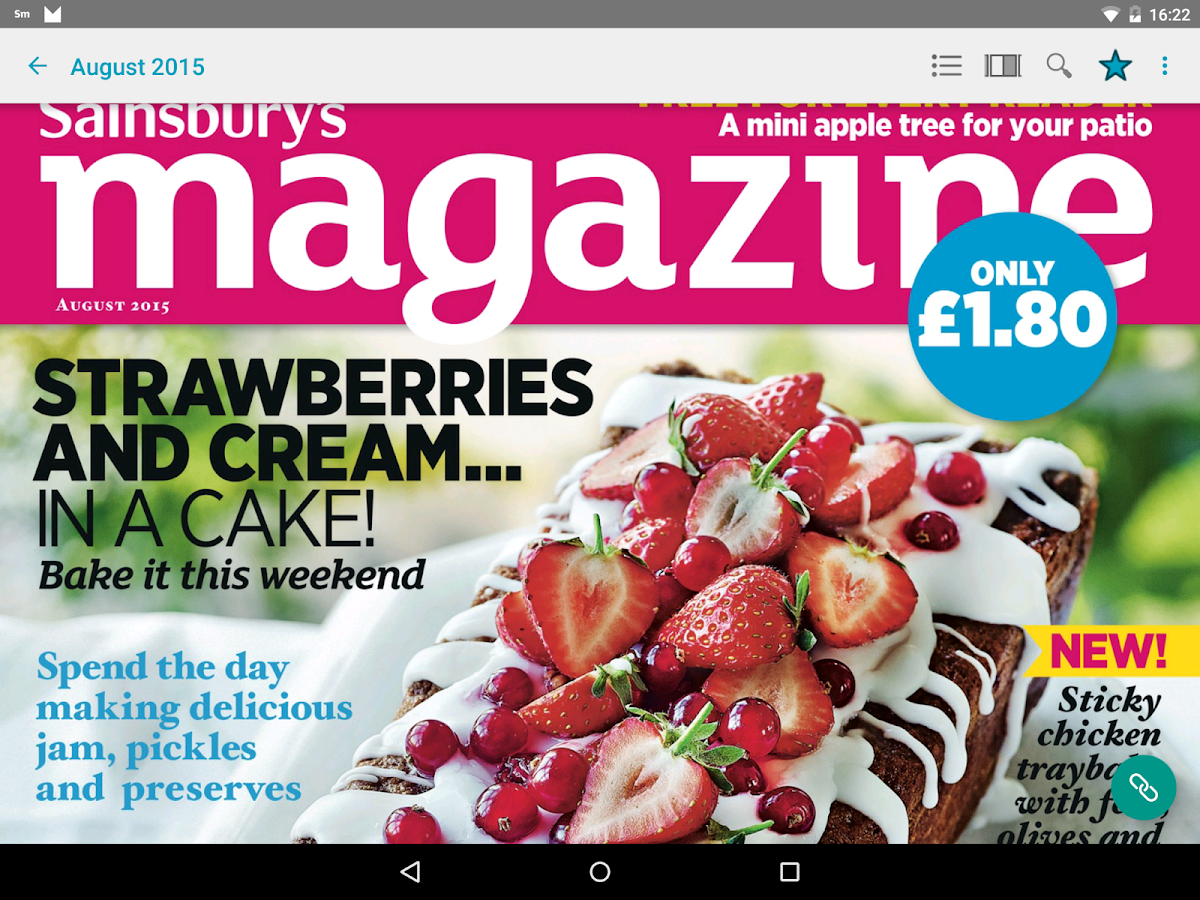 Sainsbury's magazine- screenshot