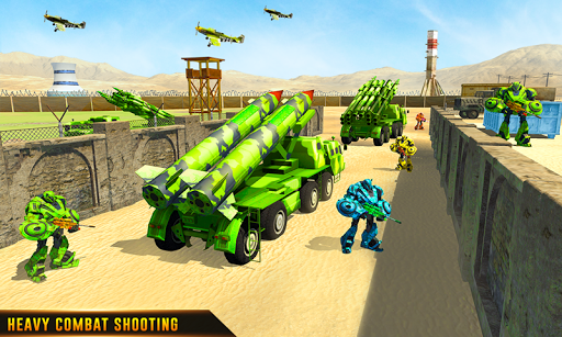 US Army Robot Missile Attack: Truck Robot Games modavailable screenshots 7