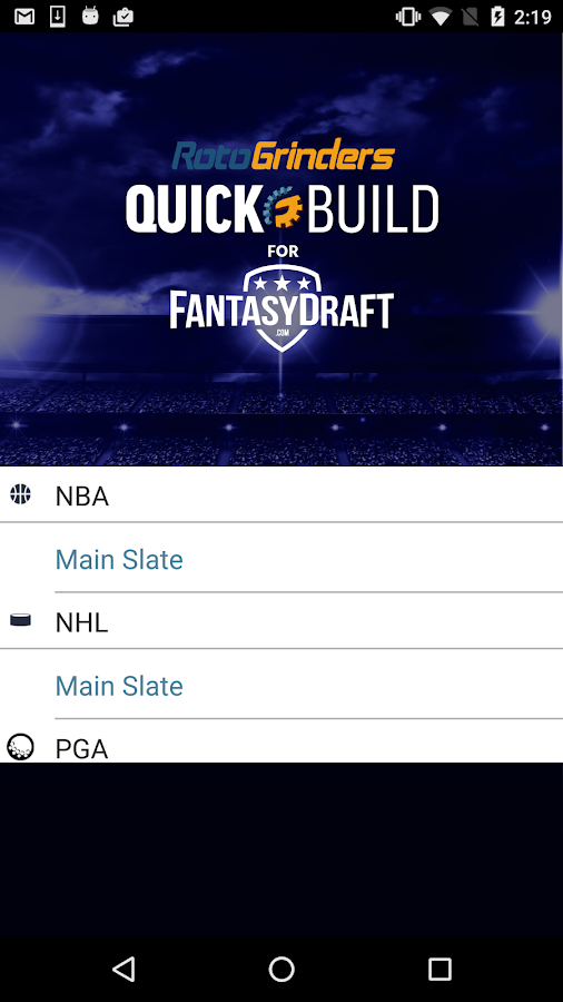 QuickBuild for FantasyDraft- screenshot
