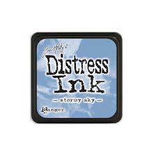 Tim Holtz Distress Mini Ink Pad - Stormy Sky