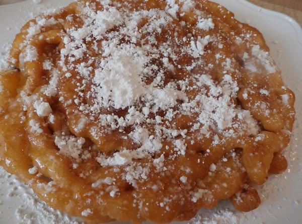 Powdered & Honeyed Funnel Cake Recipe