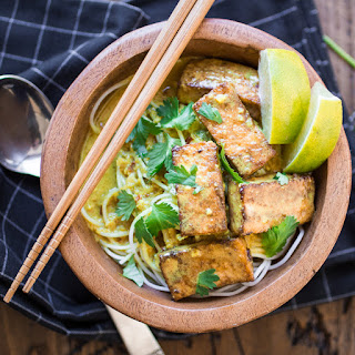 Indonesian Curry Tofu Noodle Bowls.