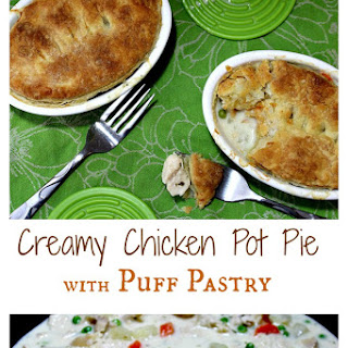 Creamy Chicken Pot Pie with Puff Pastry.