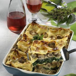 Mushroom and Spinach Lasagna.