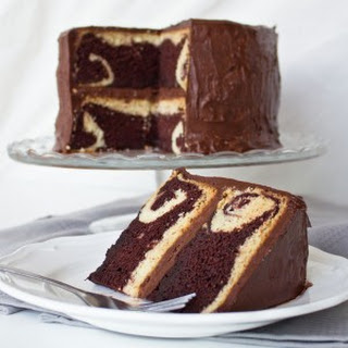 Chocolate Marble Peek-a-Boo Cake