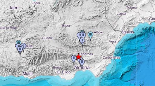 Un nuevo terremoto hace temblar la provincia de Almería