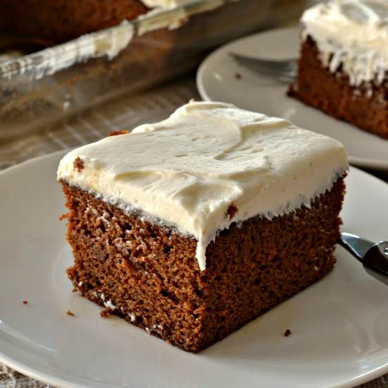 Gingerbread Cake With Cream Cheese Frosting Recipe