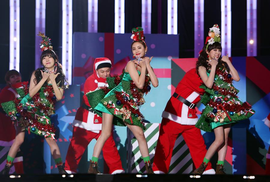 orange caramel christmas tree