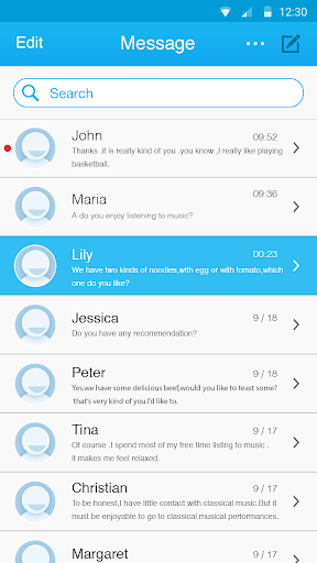 SMS Blue Color Theme