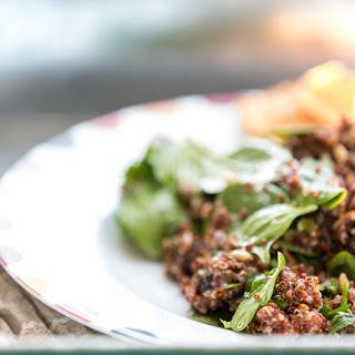 "Spicy Bean and Quinoa Salad with ""Mole"" Vinaigrette"