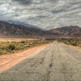 on the road by Petr Klingr - Landscapes Travel ( mountains, hdri, road, hills, clouds, way )