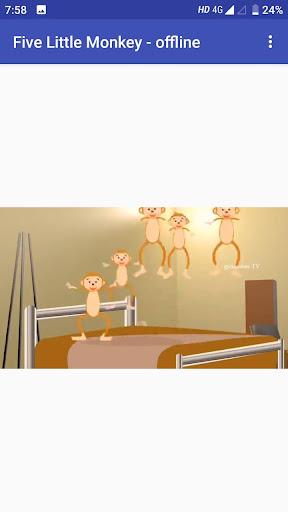 Five Little monkey video song in offline cheat hacks