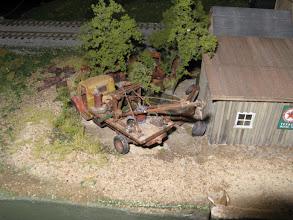 Photo: A wreck of a wrecker, behind the garage at Webb's Landing.