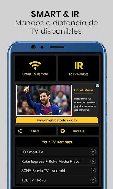 Imágen 2 de Control remoto universal de TV para android