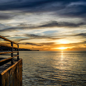 Day's Almost Over by Jun Robato - Landscapes Sunsets & Sunrises ( guam, sunsets, zeiss, rx1r, landscapes )