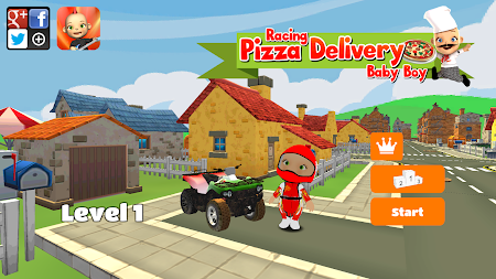 Racing Pizza Delivery Baby Boy 1.0 screenshot 11202