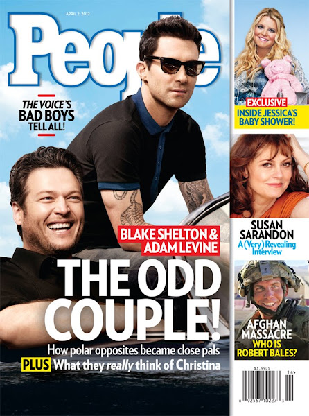 Photo: Adam and Blake Shelton talk about their friendship in this month's People magazine! Check out the cover below!
