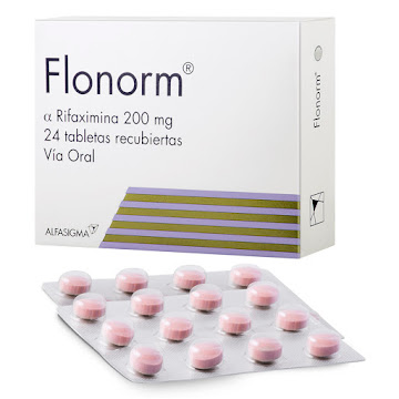 Flonorm 200Mg Tabletas   Caja x24Tab. Zambon Rifaximina