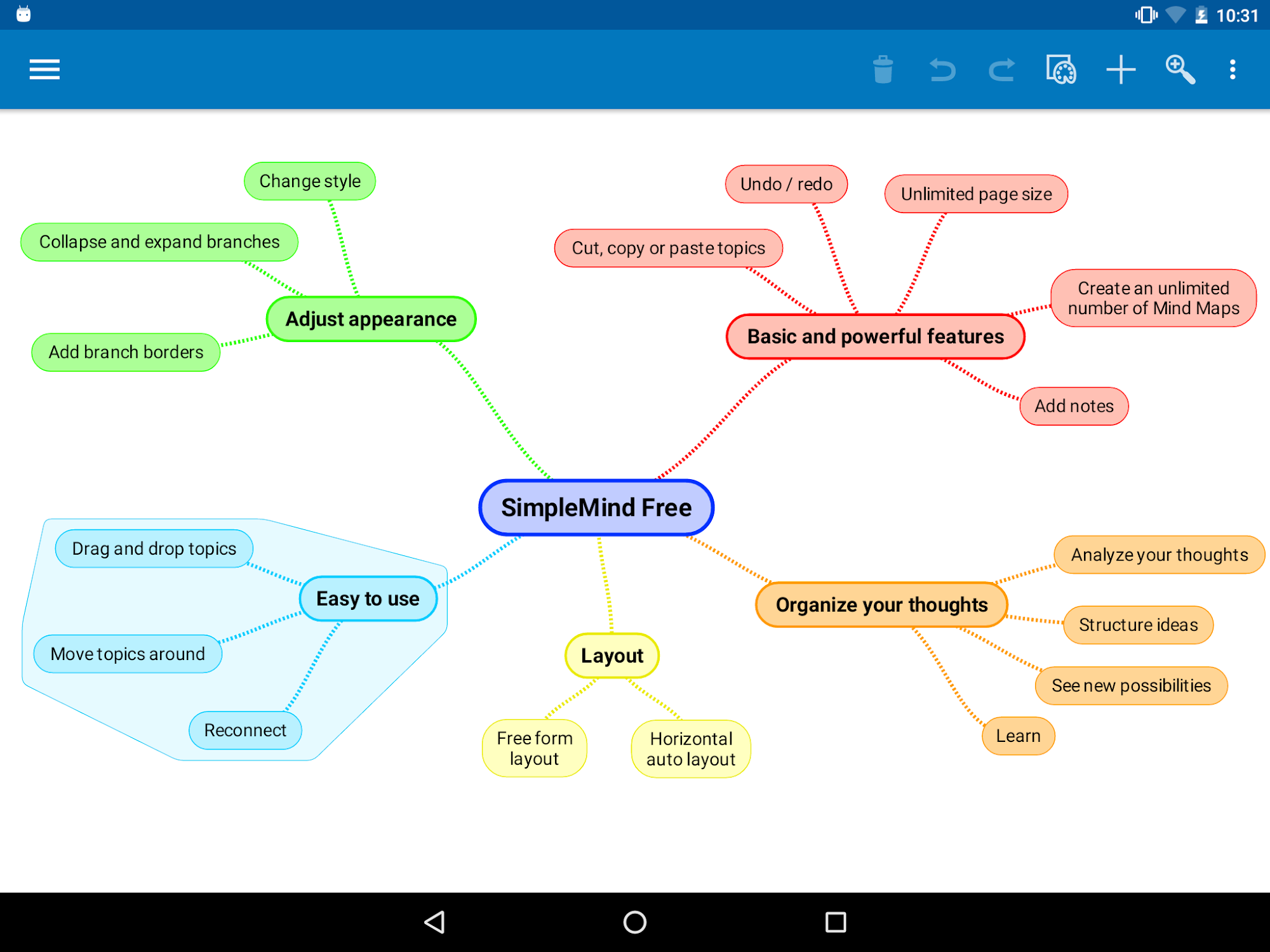 SimpleMind Free mind mapping screenshot #16